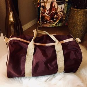 3221ec420fd4 Vintage Bags - vintage mini duffle bag maroon nylon